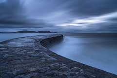 Blue Cobb (peterspencer49) Tags: uk longexposure winter dorset lymeregis westcountry thecobb jurassiccoast dorsetcoast peterspencer peterspencer49