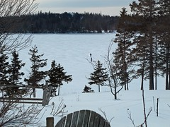 Neighbors come calling across frozen Southern Harbor (Maine Islander) Tags: sea haven north southernharbor mainewintericefrozen