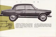 GAZ Volga M21 c.1960-64 (andreboeni) Tags: auto classic cars car automobile russia gaz voiture literature retro soviet oldtimer autos publicity russian brochure automobiles volga voitures ussr automobili classique m21