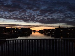 Copenhagen at 4 am. (pfnille) Tags: morning bridge sunset beautiful sunrise copenhagen am view morgen kbenhavn udsigt langebro solopgang