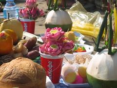 Food Left at Neak Pean