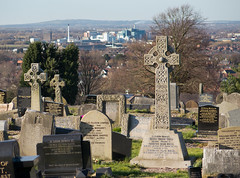 Hill Cliffe cemetery 01 mar 15 (Shaun the grime lover) Tags: industry church cemetery graveyard carved warrington memorial industrial factory cross cheshire hill tombstone bank carving quay gravestone churchyard cliffe hillcliffe