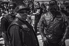 Say Cheese (Culture Shlock) Tags: street portrait people men leather tattoo portraits gang motorcycles tattoos clubs gangs bikers choppers motorcyclegangs