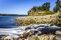 Titlow-Beach-ND-Filter_1_3-7-2015 (Rob Green - SmokingPit.com) Tags: bridge blue sun bulb speed canon bay harbor long slow shoreline bridges rocky 9 sunny stop filter shore 7d nd shutter barnacles pugetsound straight mode timer narrows waterway culvert density hoya robgreen nuetral streamriver wxposure titlowbeachsandwatersaltwater