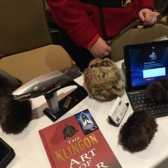 I picked up The Klingon Art of War this weekend at #GalaxyFest. It should be a fascinating read. It really stood out at the Zebulon Pike can table. / on Instagram https://instagram.com/p/zrQOhnsmrI/