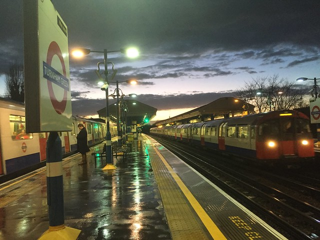 Turnham Green tube station sunset (District and Piccadilly lines)