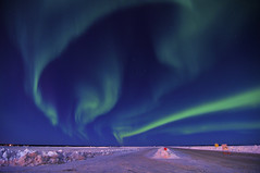 Northern Alberta spectacle (Len Langevin) Tags: longexposure winter sky nikon tokina aurora northernlights 1224 borealis d300 laclabiche