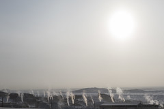 Iqaluit-1240 (Mathieu Dumond) Tags: city winter people sun snow canada cold building town community smoke arctic february nunavut iqaluit