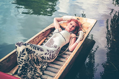 """Come in, Number 53, your time is up"" (sophie_merlo) Tags: boat punt punting rowing rowingboat summer lake river sun beauty beautiful art woman girl redhead artistic leisure relax relaxing calm tranquil happy peaceful lazy"