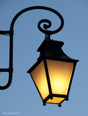 Street light (EnnyKoeva) Tags: street light blue yellow minimalistic old town plovdiv bulgaria