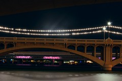 07/22/2016 (Grrrrandall) Tags: nightshot nightsky reflection nikon d5100 nikond5100 tempebeachpark lake explore longexposure light rail arizona az amateur tempe phoenix phx bridge architecture buildings