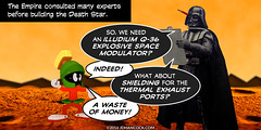 PopFig: A Planet-Shattering Kaboom (JD Hancock) Tags: jdhancock popfig comics lol webcomics geeky photocomics fun funny starwars darthvader marvinthemartian warnerbros