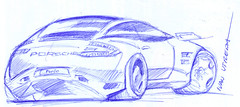 drawing car (ivanutrera) Tags: draw dibujo drawing dibujoenboligrafo dibujoalapicero lapicero drawingcar car auto sketch sketching porshe