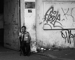 Security (G. Morgenweck) Tags: life street portrait blackandwhite bw face photography asia candid lifestyle environmental vietnam processing hochiminhcity locations 2016
