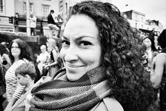 Summer Wear? (Shot In The Street) Tags: streetphotography portrait street scarf mono pride2016 female summer lgbt monochrome bristol woman black candid bw blackandwhite white
