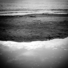 Lakeside Pool 002 (noahbw) Tags: d5000 hln mccormickwoodsnaturepreserve nikon abstract beach blackwhite blackandwhite blur bw digitalholga dreamlike dreamy holga holgalens lake landscape lofi monochrome natural noahbw reflection sand shore shoreline square toylens water waves