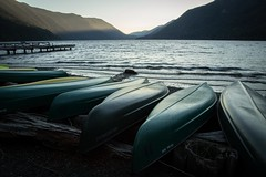 Sunset - Lake Crescent (1 of 1) (DavidGuscottPhotography) Tags: blue sunset mountains green beach evening washington canoe valley olympic olympicnationalpark lakecrescentlodge