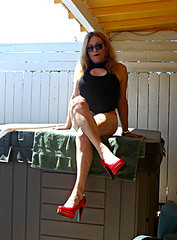 6-21-16 (11) (Spanky de Bautumn) Tags: tv cd lingerie tranny blonde bimbo trap ts bathingsuit tg shemale femboi ladyboysissy