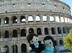 rome colosseum (Yunies_handmade) Tags: travel italy rome europe dolls crochet colosseum