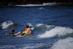 Surfing (andrew.clark471) Tags: surfing hawaii honolii father son waves