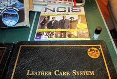 20150530 - yardsale haul - IMG_0468 - NCIS game, Leather Care kits