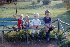 """""""fermati, sei bello!"""" (giorgiorodano46) Tags: settembre1975 september 1975 giorgiorodano carsoli abruzzo figli nipoti marco giacomo lisa francesco"""