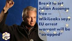 Brexit to set Julian Assange free  WikiLeaks says EU arrest warrant will be scrapped (HopeGirl587) Tags: arrest assange brexit eu free julian scrapped set warrant wikileaks