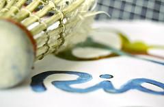 Summer Olympics sports: BADMINTON Explored (Ayeshadows) Tags: macromonday rio 2016 summer olympics badminton shuttle racket logo practiced hard sports