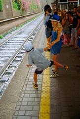 Genova (Etumies) Tags: streetphotography filmphotography analogousphotography leica leicaphotography italia italy genova genoa liguria ligure railway railways station platform tunnel