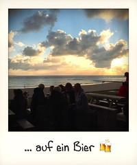 ... auf ein Bier  (Sascha Gaber) Tags: 2016 deutschland regen apfel norderney baywatch iphone hipstamatic gaber sommer sundown nordsee sascha apple strandbar