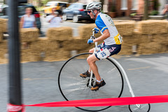Highwheel Race (8-13-16)-179 (nickatkins) Tags: bike bikes biker bikers bikerace bikeraces bikeracing cycling cyclist race bicycle bicycling bicyclist highwheel old oldtime frederick historic
