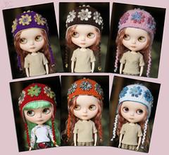(Ulanna) Tags: blythe knitting handmade clothes cap hat helmet beret
