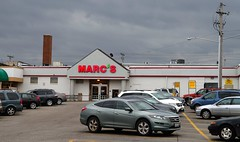 The back-front of Marc's... (Nicholas Eckhart) Tags: ohio food usa retail america us market cleveland supermarket oh former stores groceries marcs reuse 2014 southeuclid mancusos mazzulos