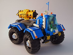 4x4 Greeble Transporter (David Roberts 01341) Tags: truck lego 4x4 space rover technic scifi minifig remotecontrol buggy allterrain greebles powerfunctions