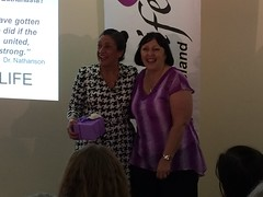 Brisbane, AUS - Teresa Martin from Cherish Life, Queensland - Loves purple in addition to life!