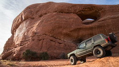 _DSC9615 (Powhusku) Tags: thanksgiving road park sky sport utah ut sand arch jeep offroad 4x4 hiking dunes arches things off trail revenge national moab 1998 cherokee delicate wheeling fins sanddunes petrified hells xj jeeping rated jcr trxus