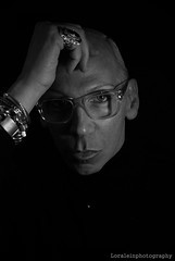 Edwin Peterson -  Hair Stylist and Creative Director (Loralein) Tags: portrait blackandwhite men face fashion hair glasses perfect artist expression fineart style attitude mode edwin hombre artista strengh peculiar hairstylist theoneandonly artdirector prohair edwinpeterson