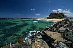 East of Nobby's Lighthouse (noompty) Tags: summer lighthouse seascape newcastle wideangle explore nsw nobbys