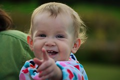 Happy Baby (Vegan Butterfly) Tags: people baby cute girl smile smiling point happy person kid infant child adorable happiness pointing