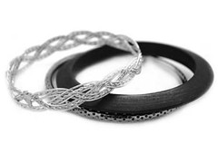 5th Avenue Black Bracelet P9112-3-1