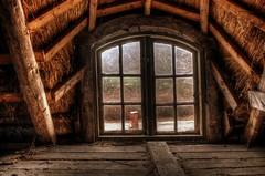 Through The Window (Crisp-13) Tags: roof house window water loft farmhouse denmark farm pump danish attic thatch inside thatched