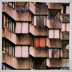 Arlington House, 10:50 (Jason 87030) Tags: uk greatbritain homes windows england urban detail tower canon square concrete eos pattern arty artistic grim unitedkingdom flats study curtains blocks february rise margate thanet 2015 arlingtonhouse jasonrodhouse
