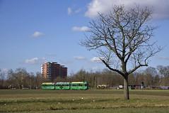 Schindler-Dreiwagenzug 500/1484/1483 zwischen Muttenz und Lachmatt