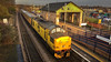 Network Rail Class 97 (37) no 97303 at mansfield Woodhouse Station on 09-01-2015 with a test train from Derby to Derby Via the Robin Hood Line (kevaruka) Tags: cameraphone uk greatbritain winter england sun color colour apple colors lines sunshine yellow composition train photography photo flickr track colours unitedkingdom snapshot shed january railway trains adobe trainstation gb locomotive frontpage robinhood britishrail nottinghamshire sunnyday mansfield growler lightroom iphone syphon 2015 networkrail class37 37303 mansfieldwoodhouse testtrain robinhoodline iphone6 thephotographyblog lightroom5 ilobsterit mansfieldwoodhousestation