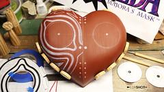 Preparing for detailing! (luxshot1) Tags: game video mask replica link zelda legend spikes prop majora majoras