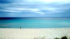 (amandagz) Tags: blue sea summer vacation woman beach azul landscape vacances mar sand holidays alone chica walk playa paisaje caminar lonely soledad blau vacaciones sola noia menorca platja estiu andar sorra paisatge