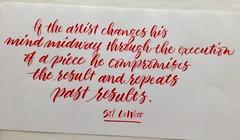 Brush pen lettering 8/365 (Scarlet Blue) Tags: lettering calligraphy brushpen