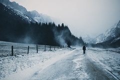 use the sleeves of my sweater, let's have an adventure... (STEPtheWOLF) Tags: road winter snow storm mountains art ice 35mm canon fence austria wind sigma styria seewiesen 5d3