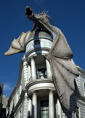 Dragon (Photographing Travis) Tags: cameraricohgr dragon florida gringottswizardingbank harrypotter orlando universalstudios wizardingworld year2014 amusementpark 2014