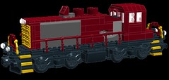 ILSX 921 WIP (wildchicken_13) Tags: railroad chicago train power lego engine wip terminal locomotive 921 functions switcher moc ldd emd sw1500 ilsx wildchicken13